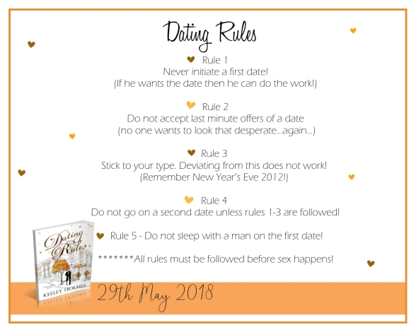 Dating Rules by Keeley Holmes and Giveaway – Viviana MacKade