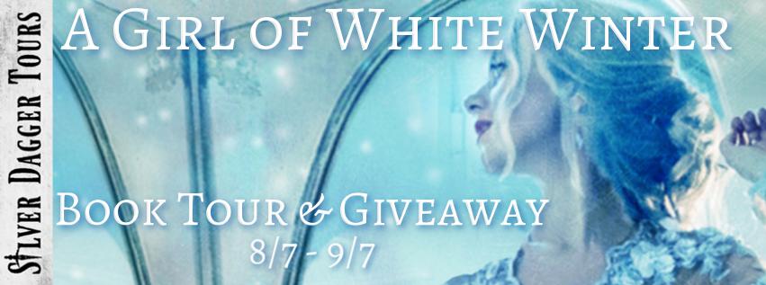 a girl of white winter banner