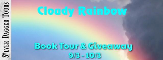 cloudy rainbow banner